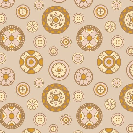 seamless vector pattern with various buttons Stock Vector - 14538932
