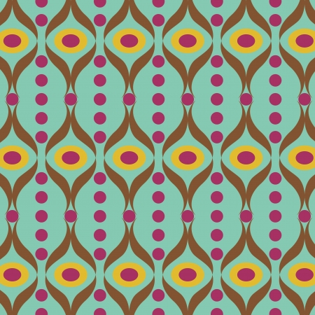60s fashion: colorful indian seamless vector pattern