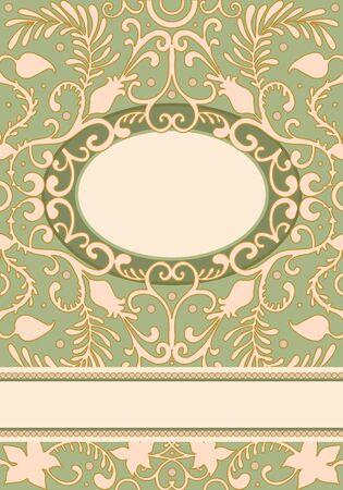 vector Invitation Design in classic style