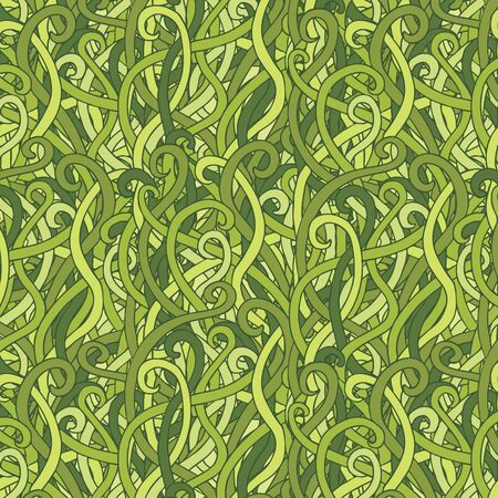 vector seamless tangled grass pattern Illustration