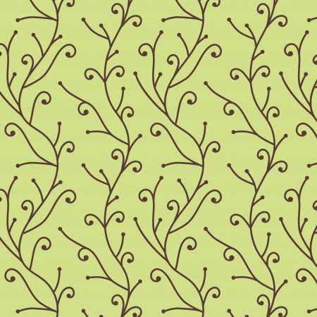 broun:  vector seamless tree branch pattern