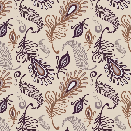 various feather pattern in pale colors Vector