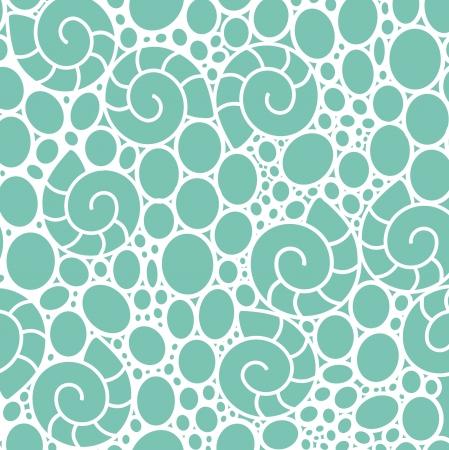 shell pattern: seamless lace-like pattern with sea shells Illustration