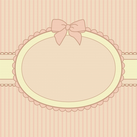 girls with bows: pink holiday frame design