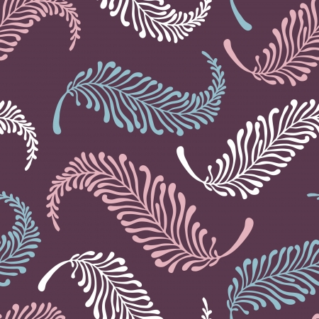 vector seamless pattern with feathers