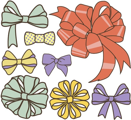 various present bows set  Vector