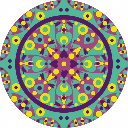 round: colorful ornamental geometric mandala Illustration