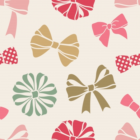 pink bow: seamless decorative pattern with bows