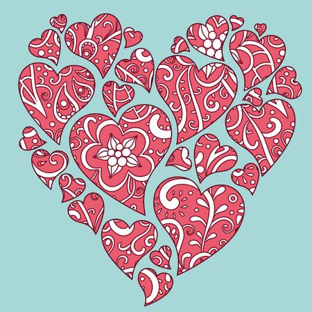 vector illustration of decorative floral heart Vector