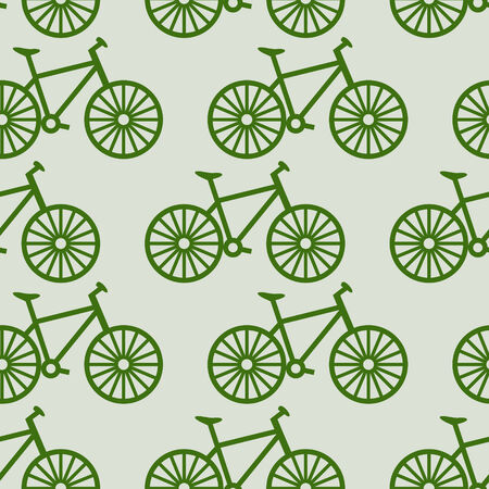 vector seamless  bicycle parrern photo