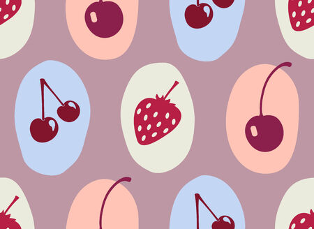 vector seamless pattern with berry Illustration