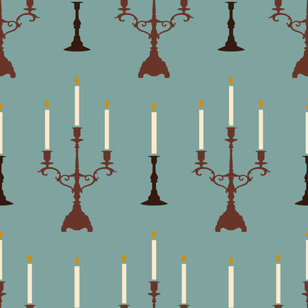 seamless vector pattern with candles Vector