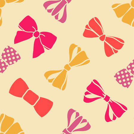 bow tie: vector seamless pattern with bows