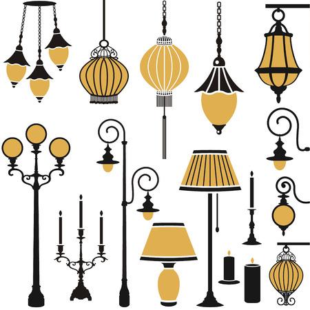 fixture: vector light equipment set Illustration