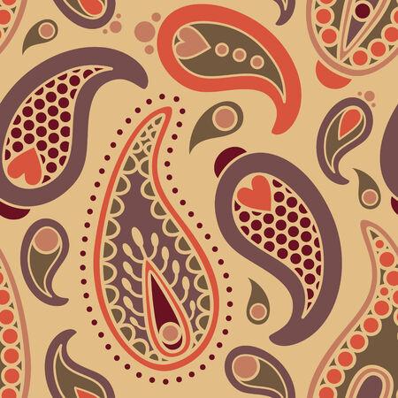 iranian: vector seamless orient paisley pattern