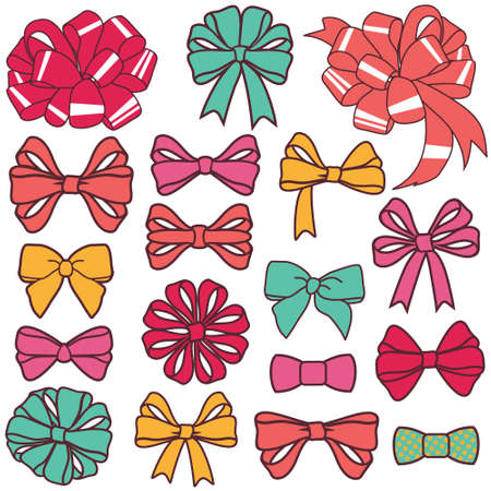 vector present bows set Illustration