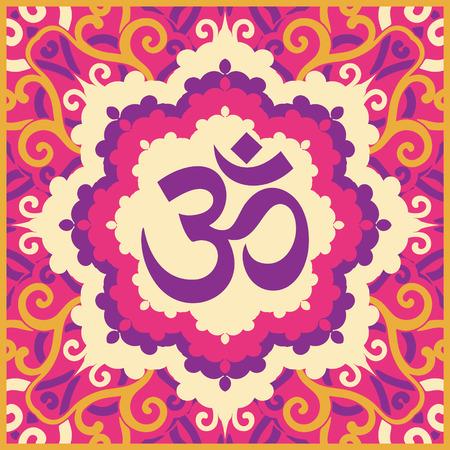 vector indian spiritual sign ohm