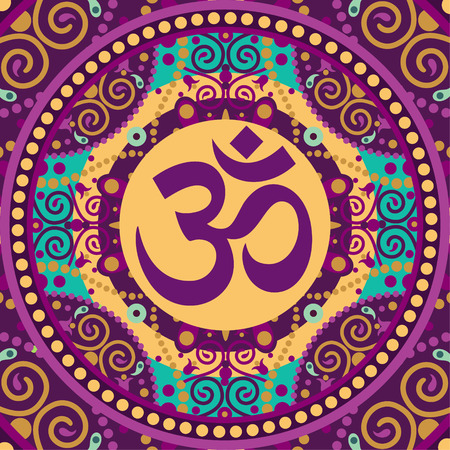 ohm: vector indian spiritual sign ohm