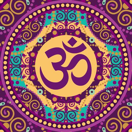 vector Indiase spirituele teken ohm
