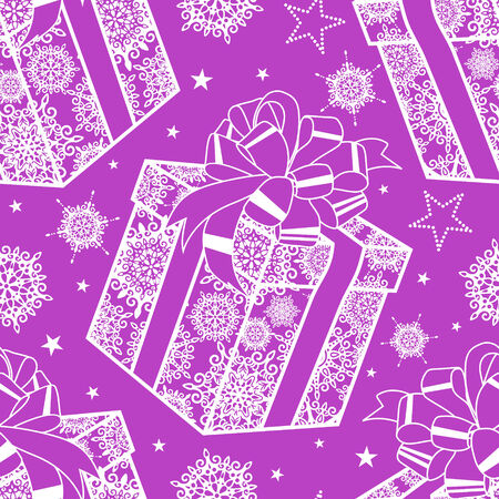 christmas seamless pattern: vector seamless pattern with christmas presents