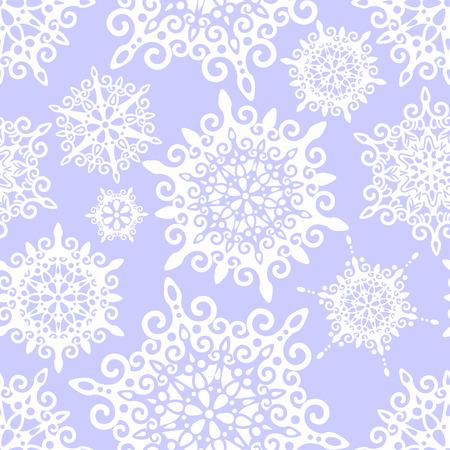 vector sin patr�n con copos de nieve decorativos