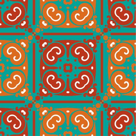 aztec art: vector seamless abstract wallpaper pattern Illustration