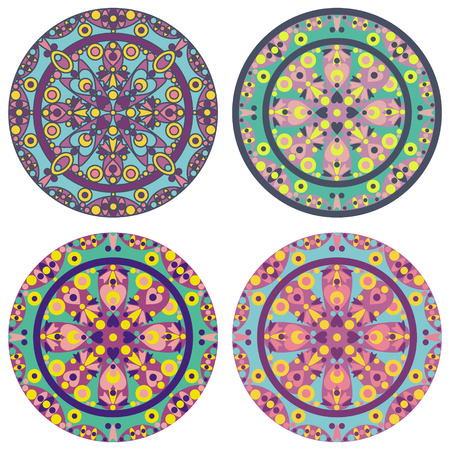 vector set of 4 color mandala Stock Vector - 26795581