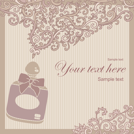 fragrance: vector illustratie van een fles parfum uitstralen geur Stock Illustratie