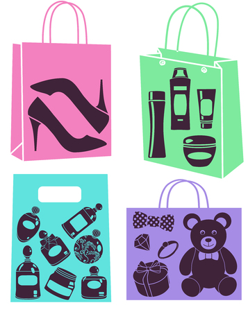 vector purchase bags set Vector