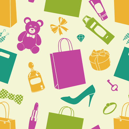 vector seamless purchase pattern Vector
