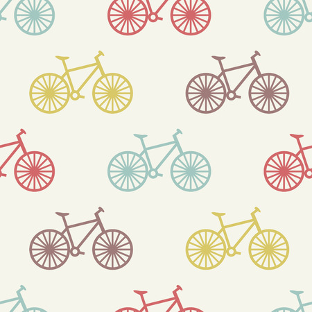 vector seamless  bicycle pattern Vector