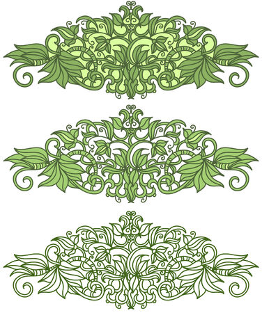 vector sketch hand drawed floral  elements