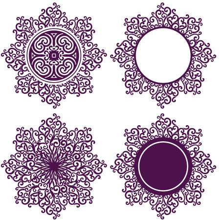 vector ornamental design elements set Vector