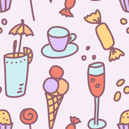 vector seamless pattern with sweets Vector