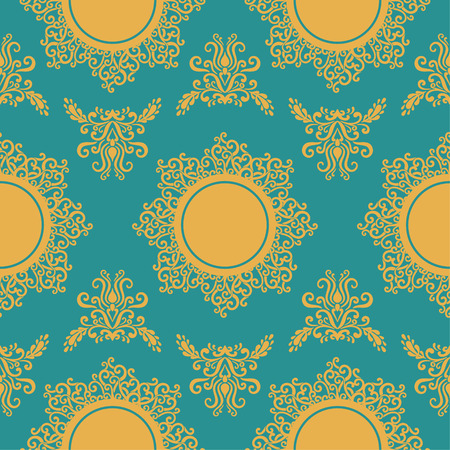vector seamless pattern with ornamental elements  Vector