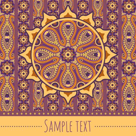 postcard design: vector ornamental orient invitation card