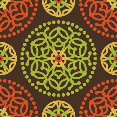vector seamless ornate orient pattern Vector