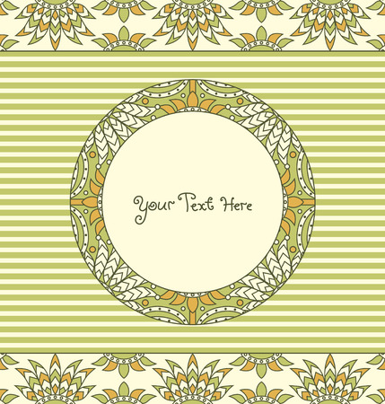 vector decorative floral card Vector