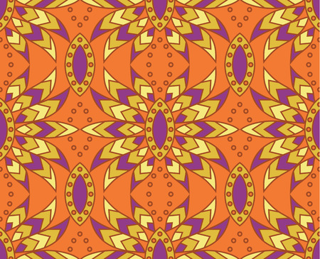 vector seamless tile indian pattern Vector