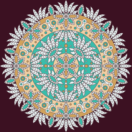 vector traditional ornamental indian mandala Vector