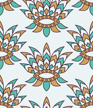 motif indiens: vecteur tuiles seamless indien Illustration
