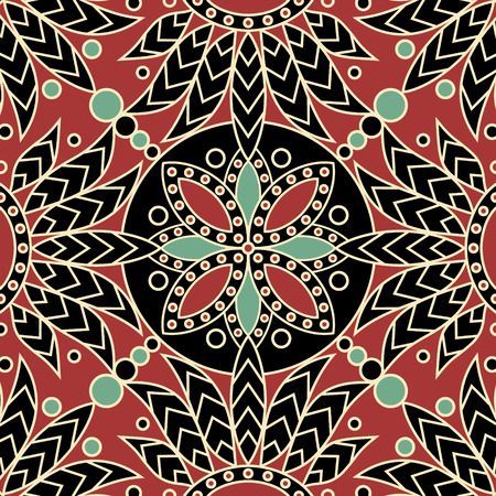 vector seamless tile indian pattern
