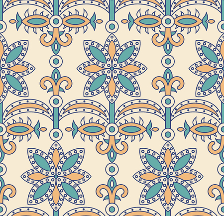 florish: vector seamless tile indian pattern