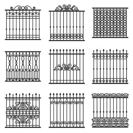 iron: vector decorative fences set Illustration