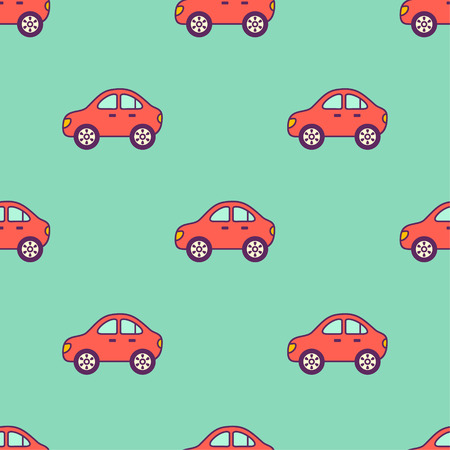 vector seamless tile pattern with baby toys cars Vector