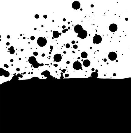 vector card with black blobs