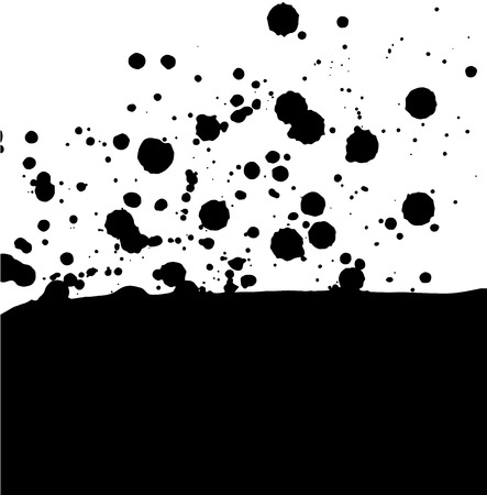 vector card with black blobs