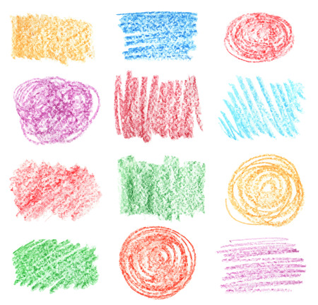 vector set of  chalk hand drawed bubbles Illustration