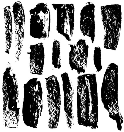 vector set of various brush strokes