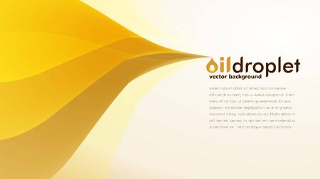 Horizontal banner with oil flow and oil droplet sign designed for poster or banner background Çizim